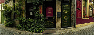 Belgium Photograph - Facade Of A Restaurant, Patershol by Panoramic Images