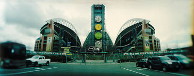 Facade Of A Stadium, Qwest Field Art Print by Panoramic Images