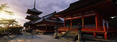Facade Of A Temple, Kiyomizu-dera Art Print by Panoramic Images