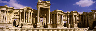 Palmyra Photograph - Facade Of A Theater, Roman Theater by Panoramic Images