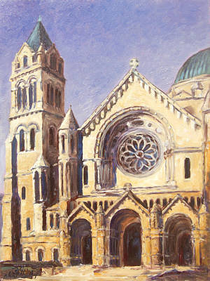 Facade Of Cathedral Basilica In St.louis Art Print