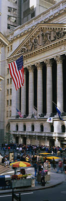 Facade Of New York Stock Exchange Art Print by Panoramic Images