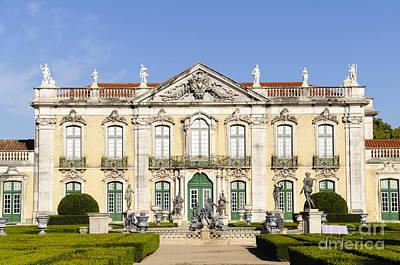 Portugal Photograph - Facade Of Queluz National Palace by Oscar Gutierrez