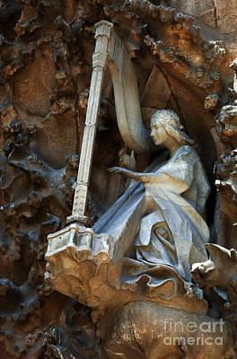 Facade Of Sagrada Familia Print by Bob Christopher