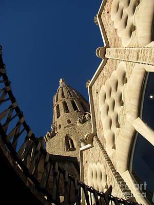 Church Photograph - Facade Of Sagrada Familia by Greg Mason Burns