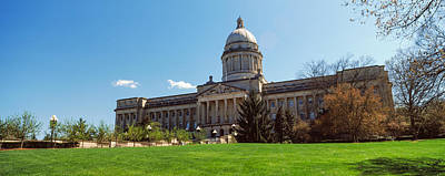 Capitol Building Photograph - Facade Of State Capitol Building by Panoramic Images
