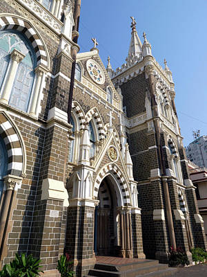Mumbai Wall Art - Photograph - Facade Of The Mount Mary Church by Panoramic Images