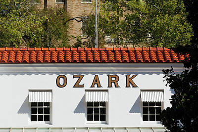 Facade Of The Ozark Bathhouse Art Print