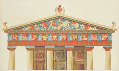 Facade Of The Temple Of Jupiter Art Print by Daumont