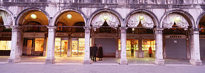 Storefront Photograph - Facade, Saint Marks Square, Venice by Panoramic Images