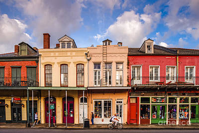 Facades Of Houses In The French Quarter Vieux Carre - New Orleans Louisiana Art Print by Silvio Ligutti