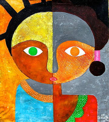 Painting - Face 2 by Kibunja