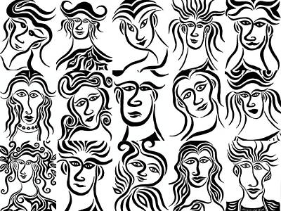 Face Dances Art Print by Beth Akerman