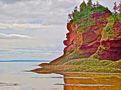 Face  Facing Fundy Bay At Hopewell Rocks-new Brunswick-canada  Original by Ruth Hager