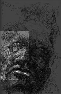 Digital Art - Face In Frame by Eddie Rifkind