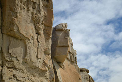 Face In Stone Art Print by Dwayne Schnell