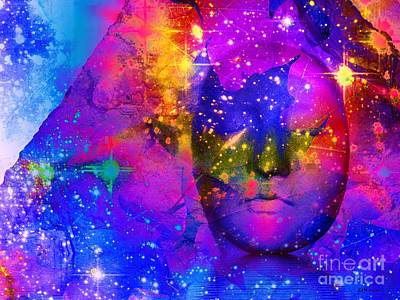 Daydreams Art Digital Art - Face In The Rock Spaced Out by Elizabeth McTaggart