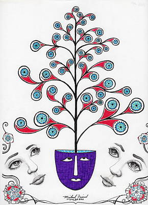 Face It There Are  Eyes Upon You Art Print by Michael Friend