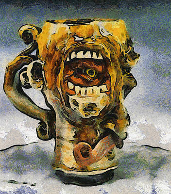 Dean Russo Painting - Face Mug By Face Jug  by Teara Na