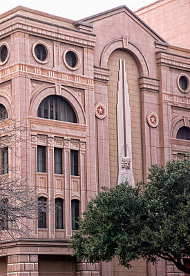 Photograph - Face Of A Fort Worth Courthouse No More by Janet Maloy