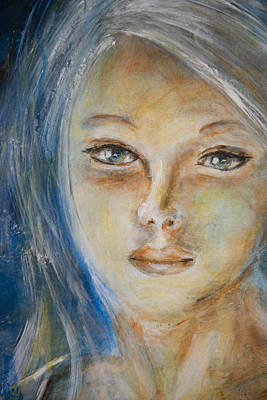 Painting - Face Of An Angel by Nik Helbig