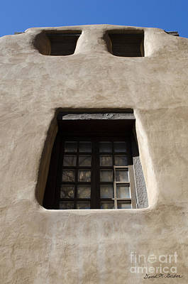 Photograph - Face Of Building In Santa Fe Nm by David Gordon