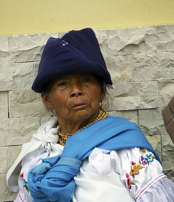 Photograph - Face Of Ecuador Woman At Cotacachi by Kurt Van Wagner
