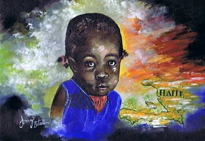 Painting - Face Of Haiti by Jerry Bates