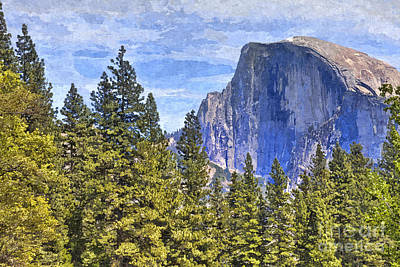 Spring Landscape Photograph - Face Of Half Dome Yosemite National Park by Colin and Linda McKie