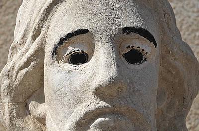 Face Of Jesus Calvary Cemetery Douglas Arizona 2008 Original by John Hanou