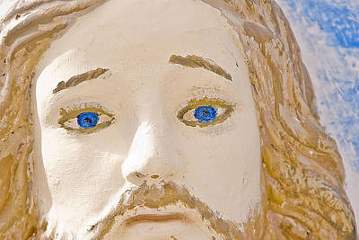 Face Of Jesus East Hill Cemetery Ft Stockton Texas 2012 Original