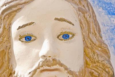 Face Of Jesus East Hill Cemetery Ft Stockton Texas 2012 Original by John Hanou