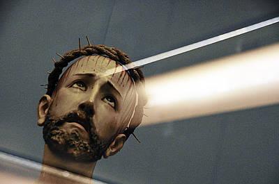 Face Of Jesus Ione Marcus Gordon Memorial Park Nogales Arizona 2010 Original by John Hanou