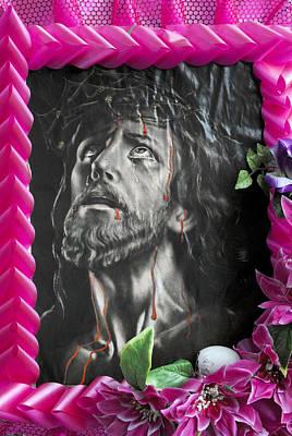 Face Of Jesus La Grange Texas 2010 Original by John Hanou