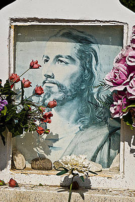 Face Of Jesus Our Lady Of Belen Cemetery Belen New Mexico 2012 Original by John Hanou