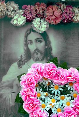 Face Of Jesus San Jose De Armijo Cemetery Albuquerque New Mexico 2008 Original by John Hanou