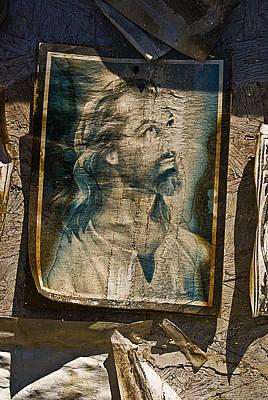 Face Of Jesus Tajique Cemetery New Mexico 2012  Original by John Hanou