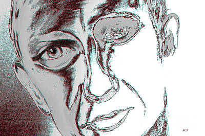 Painting - Face Of Man by Oksana Semenchenko