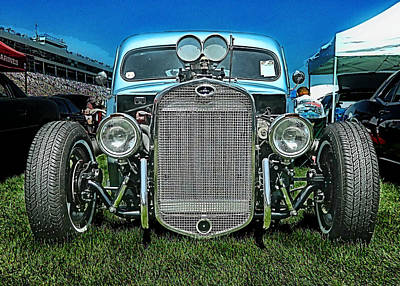 Face Of The Rat Rod Art Print by Victor Montgomery