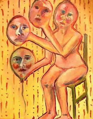 Face Off Art Print by Rachel Elise