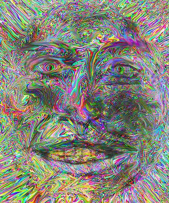 Digital Art - Face On Fire by Philip Brent