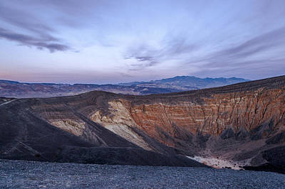 Photograph - Face Over Ubehebe Crater by Cat Connor