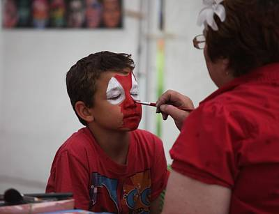 Photograph - Face Painting by Kathy Cornett