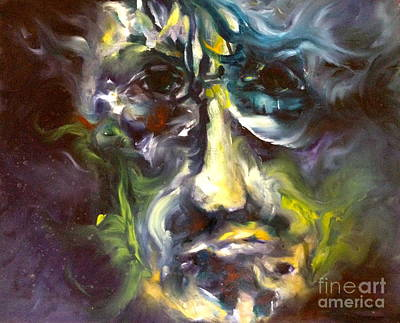 Face Series 5 The Other Side Art Print by Michelle Dommer