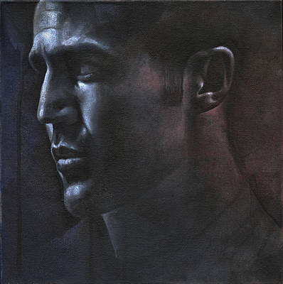 Painting - Face Study In The Dark by Chris Lopez