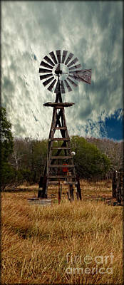 Photograph - Face The Wind - Windmill Photography Art by Ella Kaye Dickey