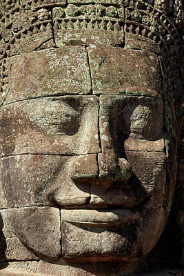 Bodhisattva Photograph - Face Thought To Depict Bodhisattva by David Wall