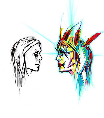 Painting - Face To Face by Andrea Carroll