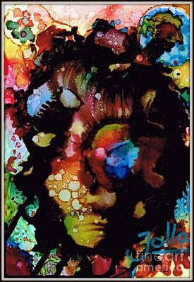Painting - Face To Face.. by Jolanta Anna Karolska