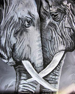 Face To Face Art Print by Maris Sherwood